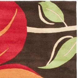 Safavieh Handmade Tulips Brown New Zealand Wool Rug (5'x 8') - Thumbnail 1