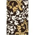 Safavieh Handmade Silhouettes Brown Intricate Floral New Zealand Wool Rug - 7'6 x 9'6