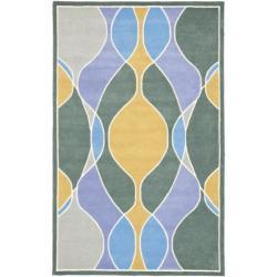Safavieh Handmade Soho Modern Abstract Multicolored Rug (5' x 8')