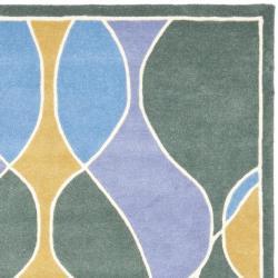 Safavieh Handmade Soho Modern Abstract Multicolored Rug (7' 6 x 9' 6) - Thumbnail 1