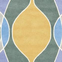 Safavieh Handmade Soho Modern Abstract Multicolored Rug (7' 6 x 9' 6) - Thumbnail 2