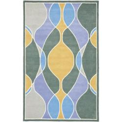 Safavieh Handmade Soho Modern Abstract Multicolored Rug - Blue/Grey - 7'6 x 9'6 - Thumbnail 0