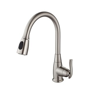 KRAUS 30 Inch Farmhouse Single Bowl Stainless Steel Kitchen Sink with Kitchen Faucet and Soap Dispenser (Option: satin nickel)