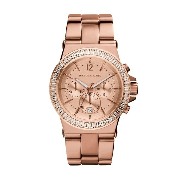 ecc2ec125cd8 Shop Michael Kors Women s MK5412 Bel Aire Rose Gold-tone Watch ...