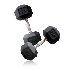 CAP Barbell 40 lb Pair of Coated Hex Dumbbells (Set of 2)