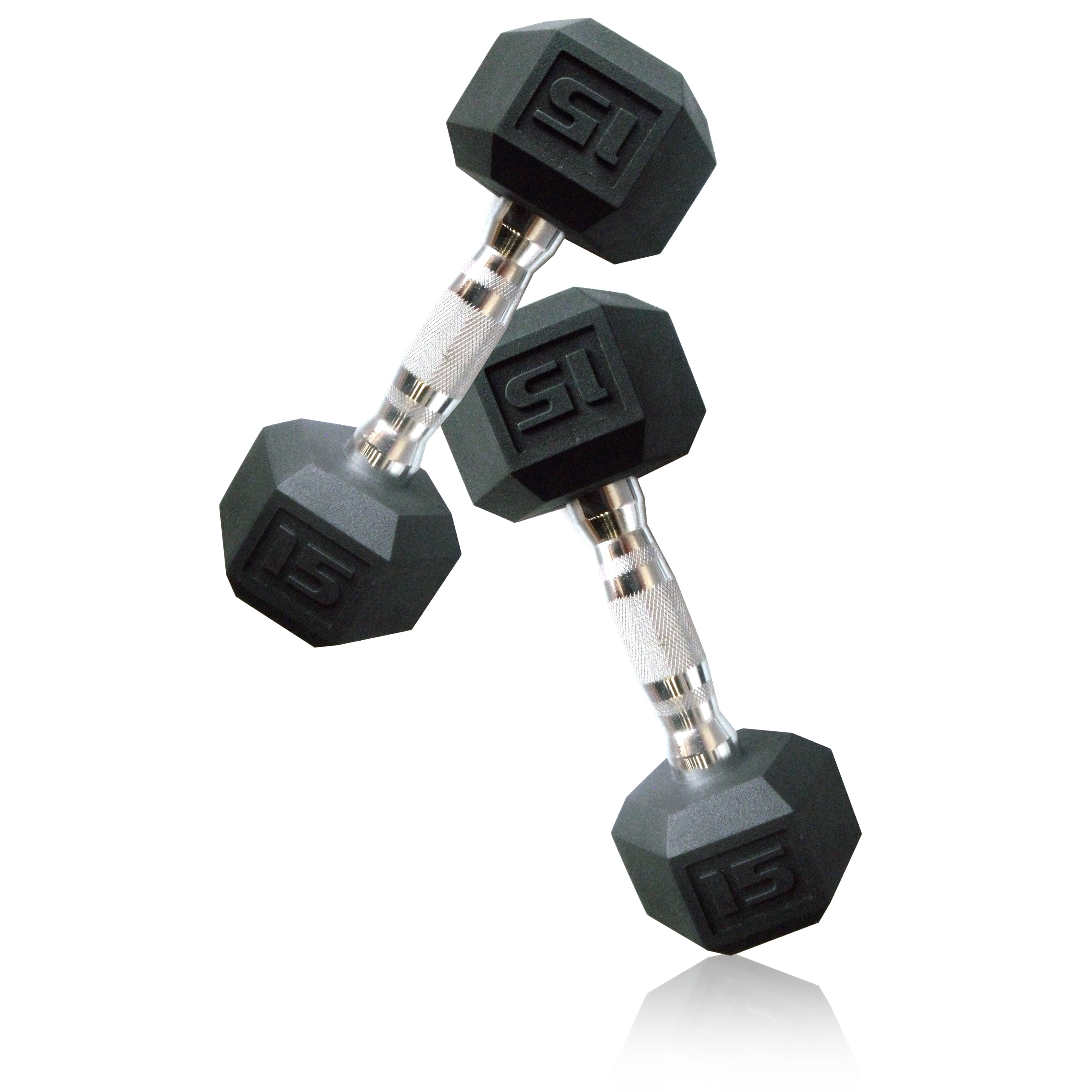 CAP Barbell 15 lb Pair of Coated Hex Dumbbells (Set of 2)