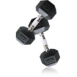 CAP Barbell 25 lb Pair of Coated Hex Dumbbells (Set of 2)|https://ak1.ostkcdn.com/images/products/6173293/CAP-Barbell-25-lb-Pair-of-Coated-Hex-Dumbbells-Set-of-2-P13827620.jpg?impolicy=medium