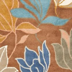 Safavieh Handmade Soho Lakeside Brown New Zealand Wool Rug (3'6 x 5'6') - Thumbnail 2