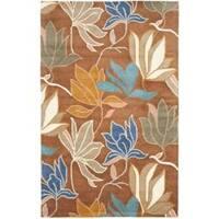 Safavieh Handmade Soho Lakeside Brown New Zealand Wool Rug (3'6 x 5'6') - 3'6 x 5'6