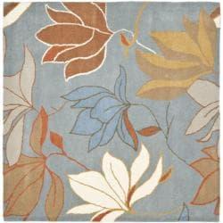 Safavieh Handmade Soho Lakeside Blue New Zealand Wool Rug (6' Square)