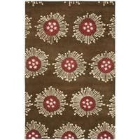 Safavieh Handmade Soho Celebrations Brown New Zealand Wool Rug - 7'6 x 9'6