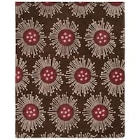 "Safavieh Handmade Soho Celebrations Brown New Zealand Wool Rug - 7'-6"" x 9'-6"""