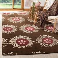 "Safavieh Handmade Soho Celebrations Brown N. Z. Wool Rug - 3'-6"" x 5'-6"""