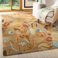 "Safavieh Handmade Soho Flora Beige New Zealand Wool Rug - 7'-6"" x 9'-6"""