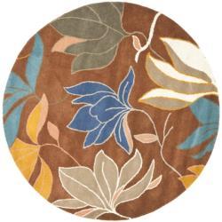 Safavieh Handmade Soho Lakeside Brown New Zealand Wool Rug (6' Round)