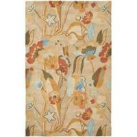 Safavieh Handmade Soho Flora Beige New Zealand Wool Rug - 3'6 x 5'6