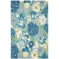 Safavieh Handmade Soho Botanical Blue New Zealand Wool Rug - 7'6 x 9'6