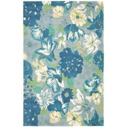 Safavieh Handmade Soho Botanical Blue New Zealand Wool Rug (5' x 8')