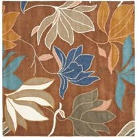 Safavieh Handmade Soho Lakeside Brown New Zealand Wool Rug - 6' x 6' Square