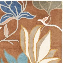 Safavieh Handmade Soho Lakeside Brown New Zealand Wool Rug (5' x 8') - Thumbnail 1