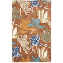 Safavieh Handmade Soho Lakeside Brown New Zealand Wool Rug - 5' x 8' - Thumbnail 0