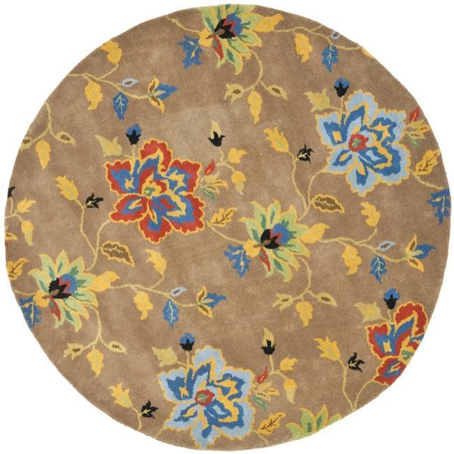 Safavieh Handmade Soho Paradise Brown New Zealand Wool Rug (6' Round)