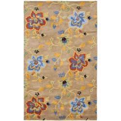 Safavieh Handmade Soho Paradise Brown New Zealand Wool Rug - 5' x 8' - Thumbnail 0