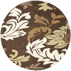 Safavieh Handmade Soho Bontanical Brown New Zealand Wool Rug (6' Round)