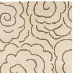 Safavieh Handmade Soho Roses Beige New Zealand Wool Rug (5' x 8') - Thumbnail 1