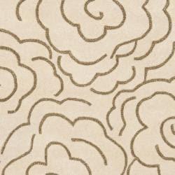 Safavieh Handmade Soho Roses Beige New Zealand Wool Rug (5' x 8') - Thumbnail 2