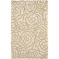 Safavieh Handmade Soho Roses Beige New Zealand Wool Rug - 5' x 8'