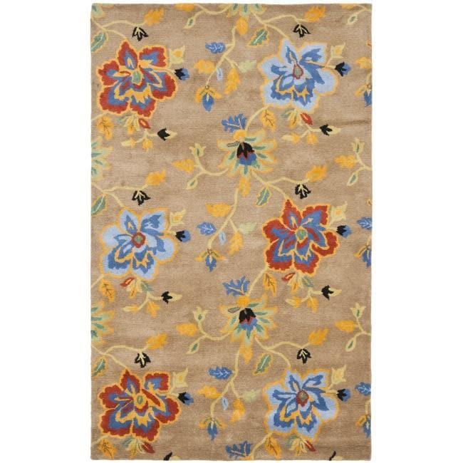 Safavieh Handmade Soho Paradise Brown New Zealand Wool Rug - 7'6 x 9'6