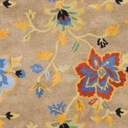 Safavieh Handmade Soho Paradise Brown New Zealand Wool Rug (7'6 x 9'6) - Thumbnail 2