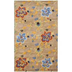 Safavieh Handmade Soho Paradise Brown New Zealand Wool Rug (7'6 x 9'6)