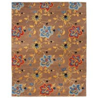 "Safavieh Handmade Soho Paradise Brown New Zealand Wool Rug - 7'6"" x 9'6"""