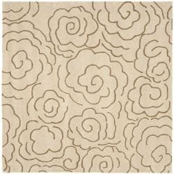 Safavieh Handmade Soho Roses Beige New Zealand Wool Rug (6' Square)