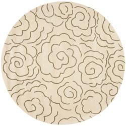 Safavieh Handmade Soho Roses Beige New Zealand Wool Rug (6' Round)