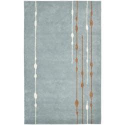 Safavieh Handmade Soho Modern Abstract Rain Blue Wool Rug (5' x 8')