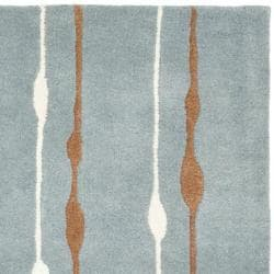 Safavieh Handmade Soho Modern Abstract Rain Blue Wool Rug (3'6 x 5'6')