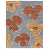 "Safavieh Handmade Soho Daisies Blue New Zealand Wool Rug - 7'-6"" x 9'-6"""