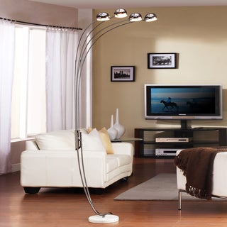 Modern Chrome Metal Arch Lamp by iNSPIRE Q Classic