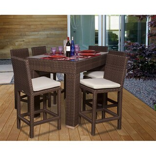Atlantic Olivia 7-piece Wicker Bar Set