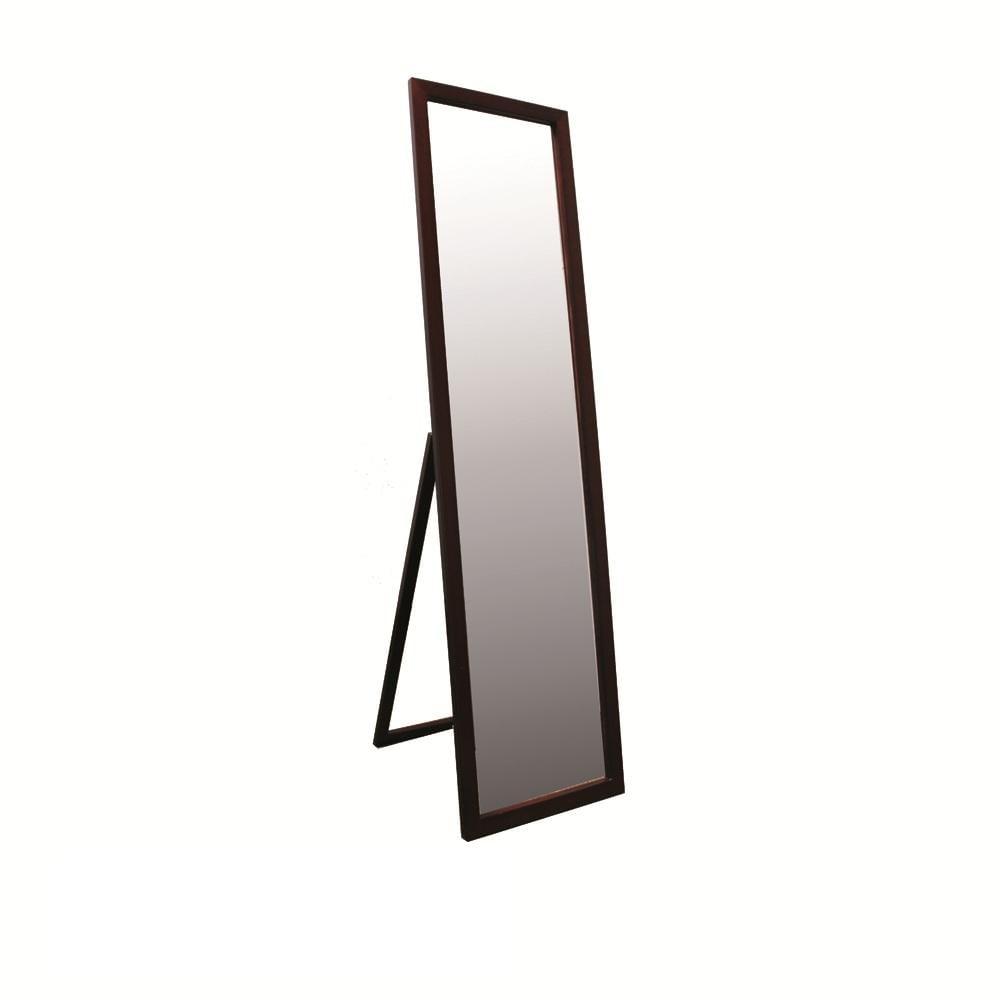 Walnut Finish 55-inch Stand Mirror