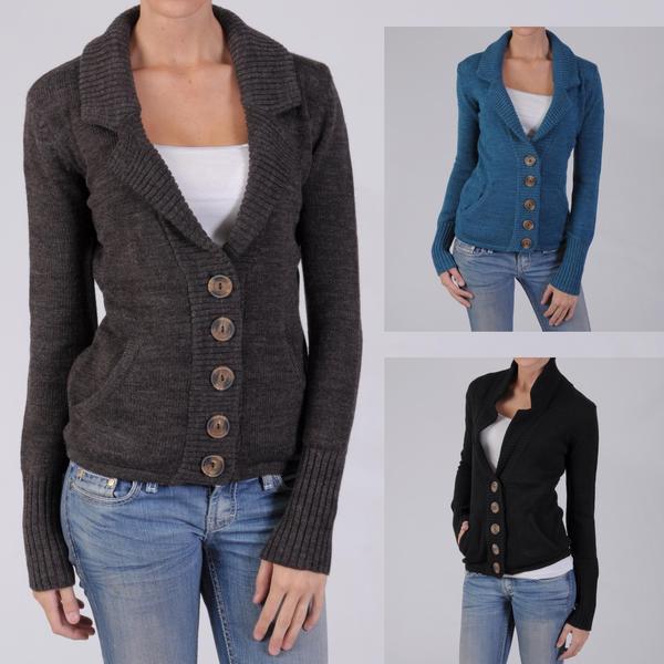 Ci Sono by Adi Juniors Buttoned Sweater