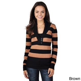 Ci Sony by Adi Juniors Long Sleeve V-neck Sweater