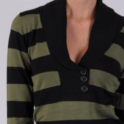 Ci Sony by Adi Juniors Striped V-neck Sweater - Thumbnail 2