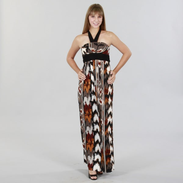JFW Chic Maxi Dress with Halter Tie