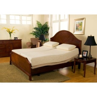 Sleep Zone Premium Adjustable Bed and 8-inch Split King-size Memory Foam Mattress Set