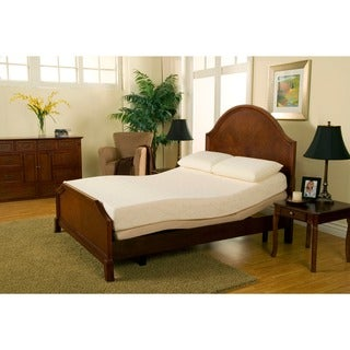 Sleep Zone Premium Adjustable Bed and 8-inch Queen-size Memory Foam Mattress Set
