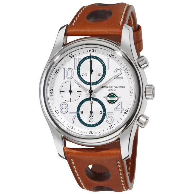 Frederique Constant Men's 'Healey Automatic Chronograph' Leather Watch